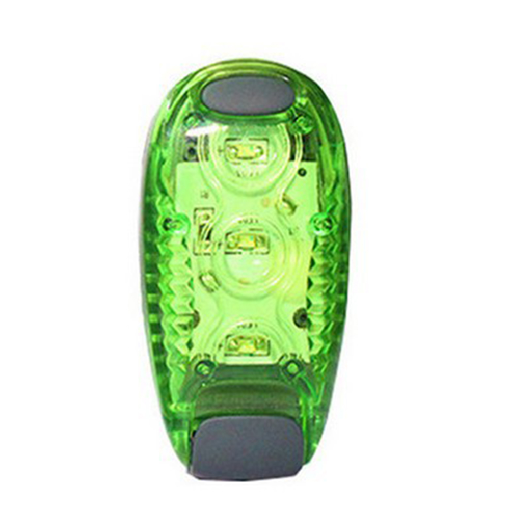 Outdoor Waterproof LED Night Safety Warning Lighting High Visibility Signal Lamp Tail Lights for Night Running Riding Dog Pet Runner green