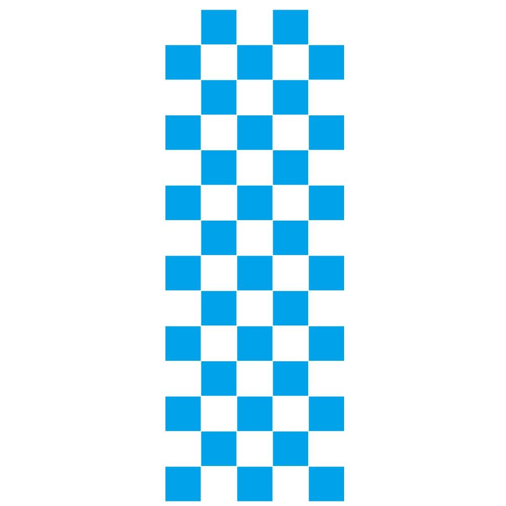 Car Covers Vinyl Racing Sports Decal Head Sticker Stripe Plaid Pattern Car Decal Accessories blue