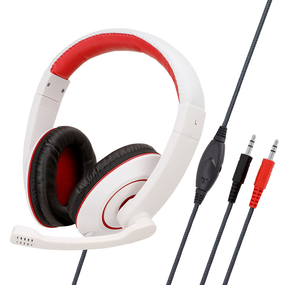 Anti-violence Computer Headset Portable Stereo Volume Control Headphone for PC Laptop with Mic SY722MV white PC does not shine headphones with packaging