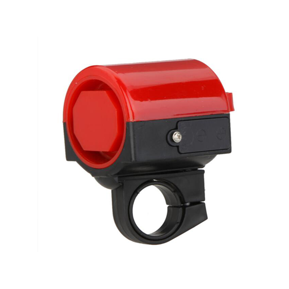 Bicycle Bell Road Bike Mountain Bike Bell Alarm Electronic Aluminum Alloy Handle-bar Bell red_One size