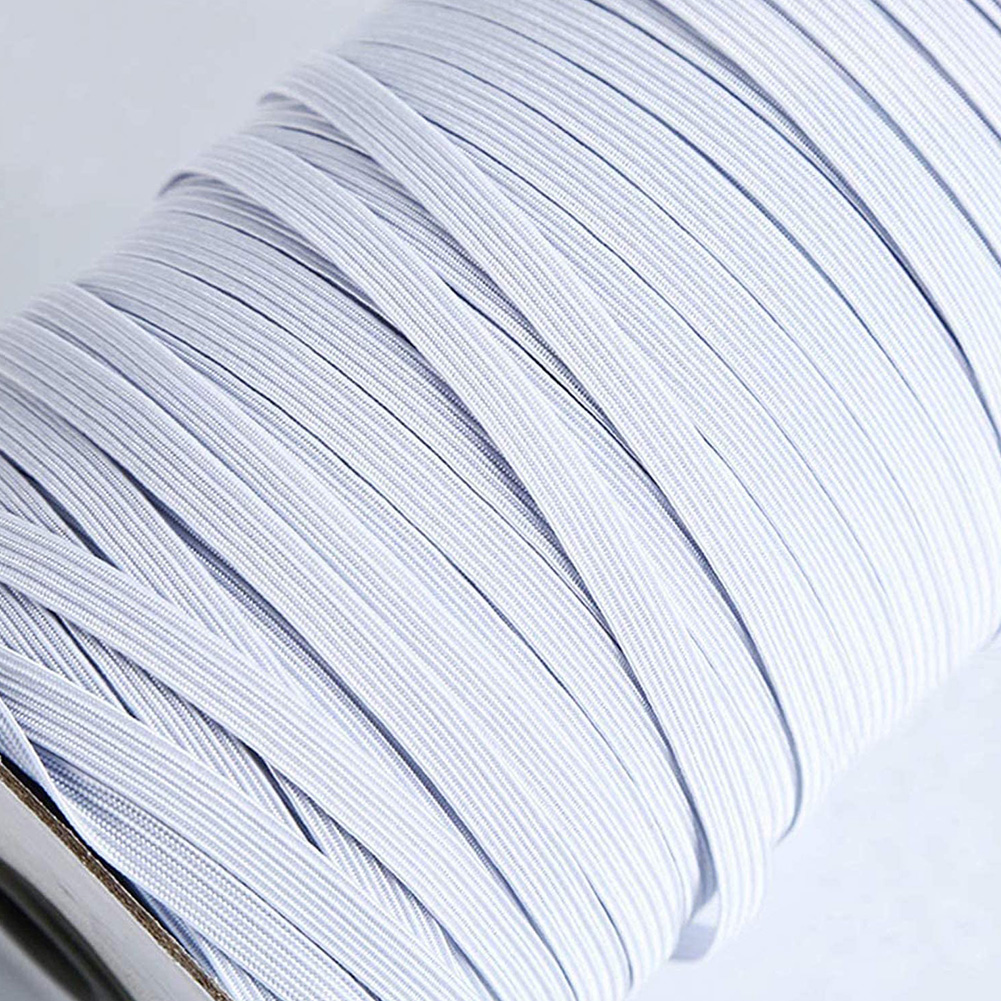 Stretch String Braided Elastic Band Elastic Rope for Sewing Crafts Oversleeve Mask Bedspread white_3mm