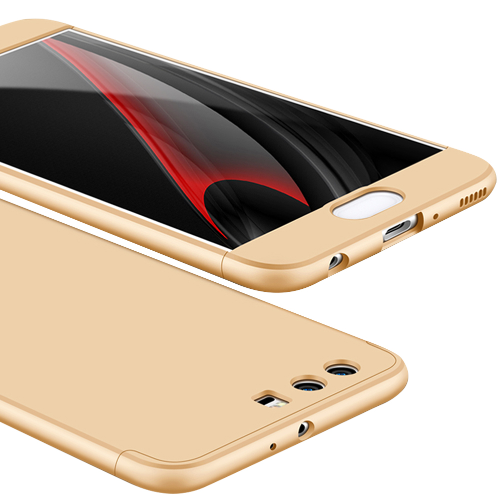 For HUAWEI P10 Plus Ultra Slim Back Cover Non-slip Shockproof 360 Degree Full Protective Case Gold