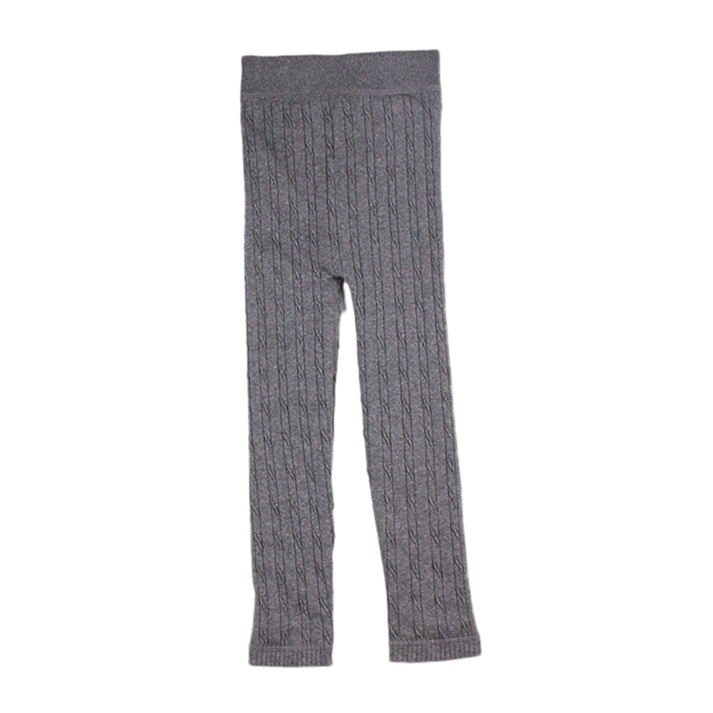 Girls Thickened Warm Soft Velvet Leggings High Elasticity Solid Color Knitting Pants Trousers