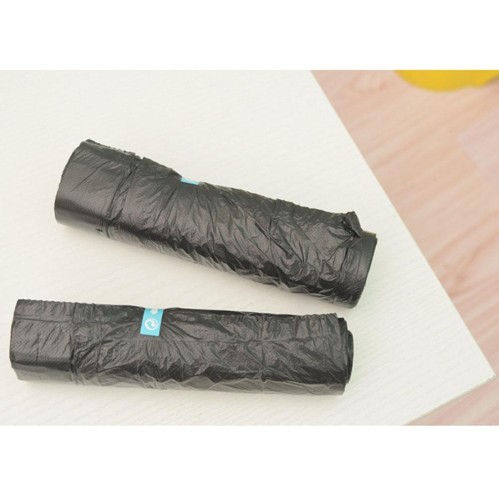 15pcs/Roll Drawstring Garbage Bag Point Break Portable Garbage Bag Thickening Kitchen Wearing Rope Plastic Bag Single volume random