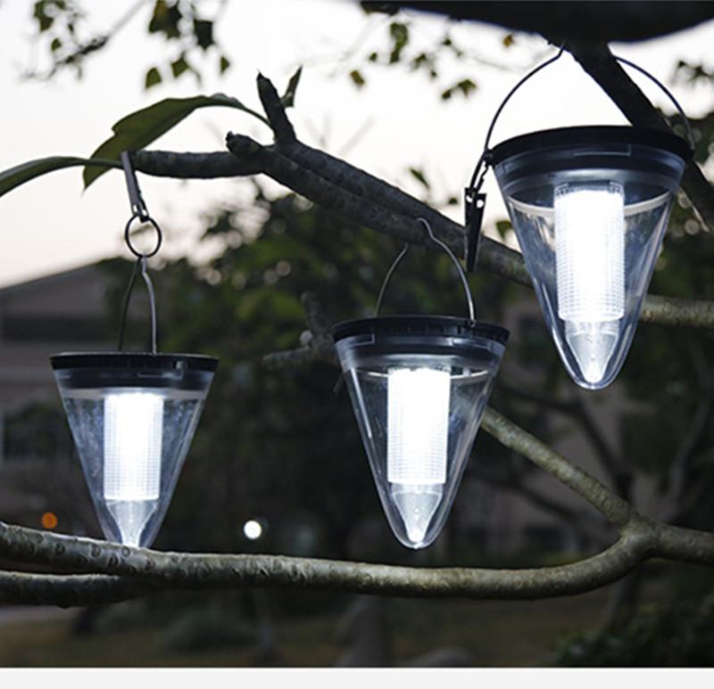 Solar Light Outdoor Waterproof Garden Decoration Hanging Lamps Night Light White light_2.4W