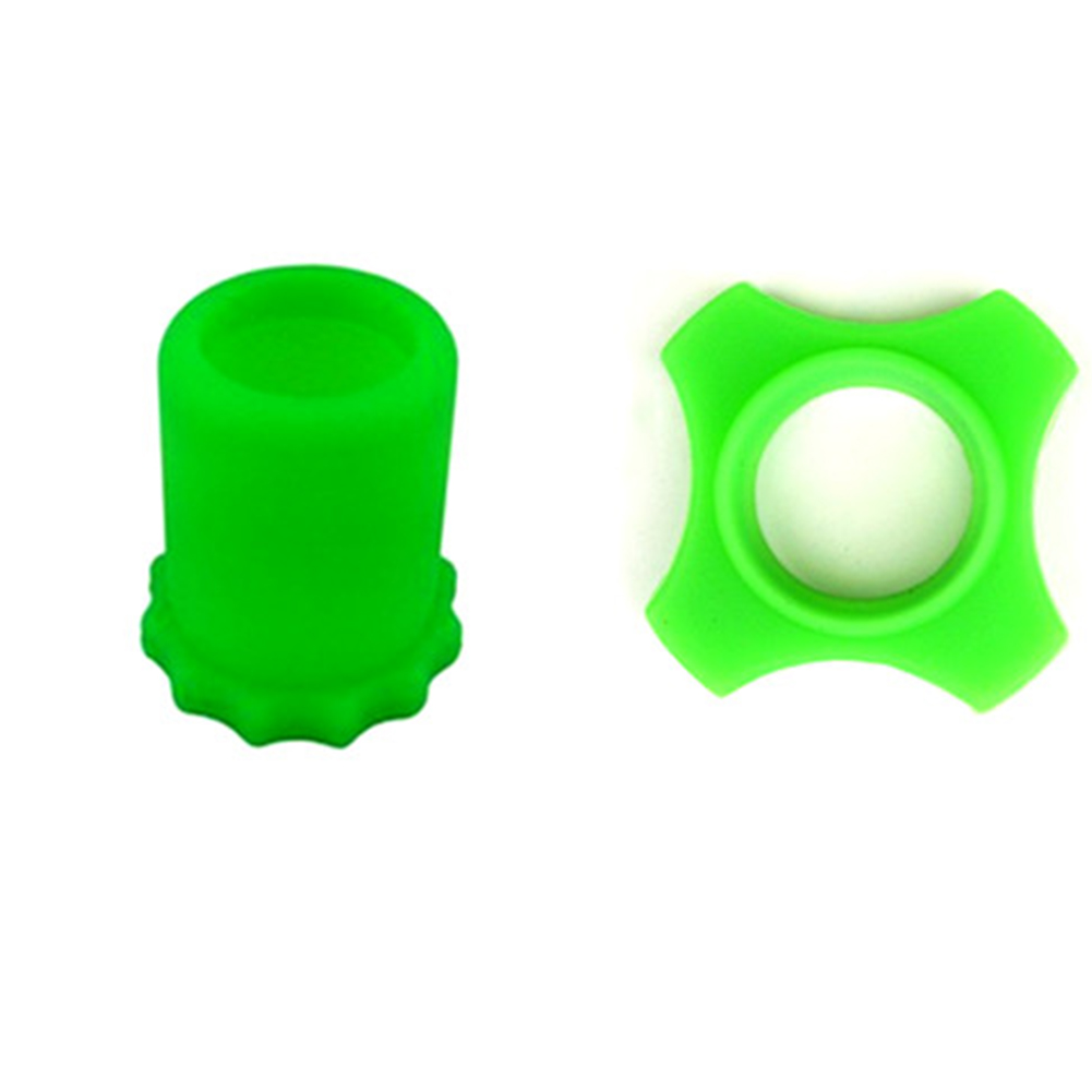 Microphone Protection Set Anti-Rolling Ring Bottom Sleeve Handheld Microphone Shockproof Shackproof Silicone Cover for BBS KTV DJ Device Green