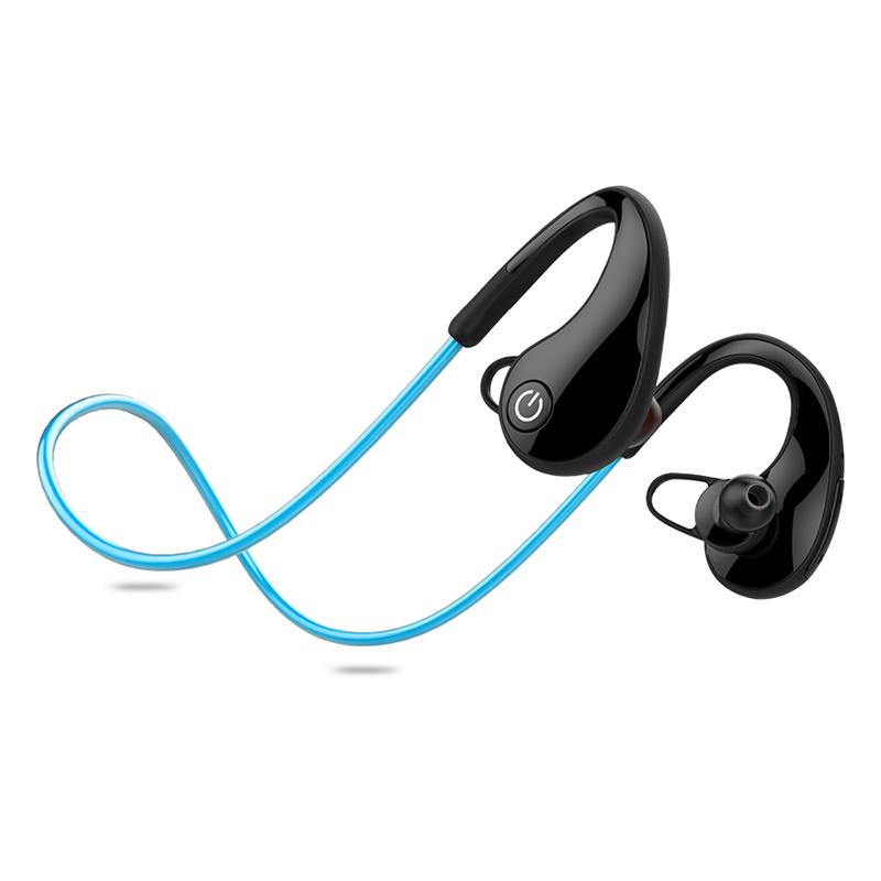 Mini Bluetooth  Earphone Sport Running Headset Stereo Earbuds Earphones blue