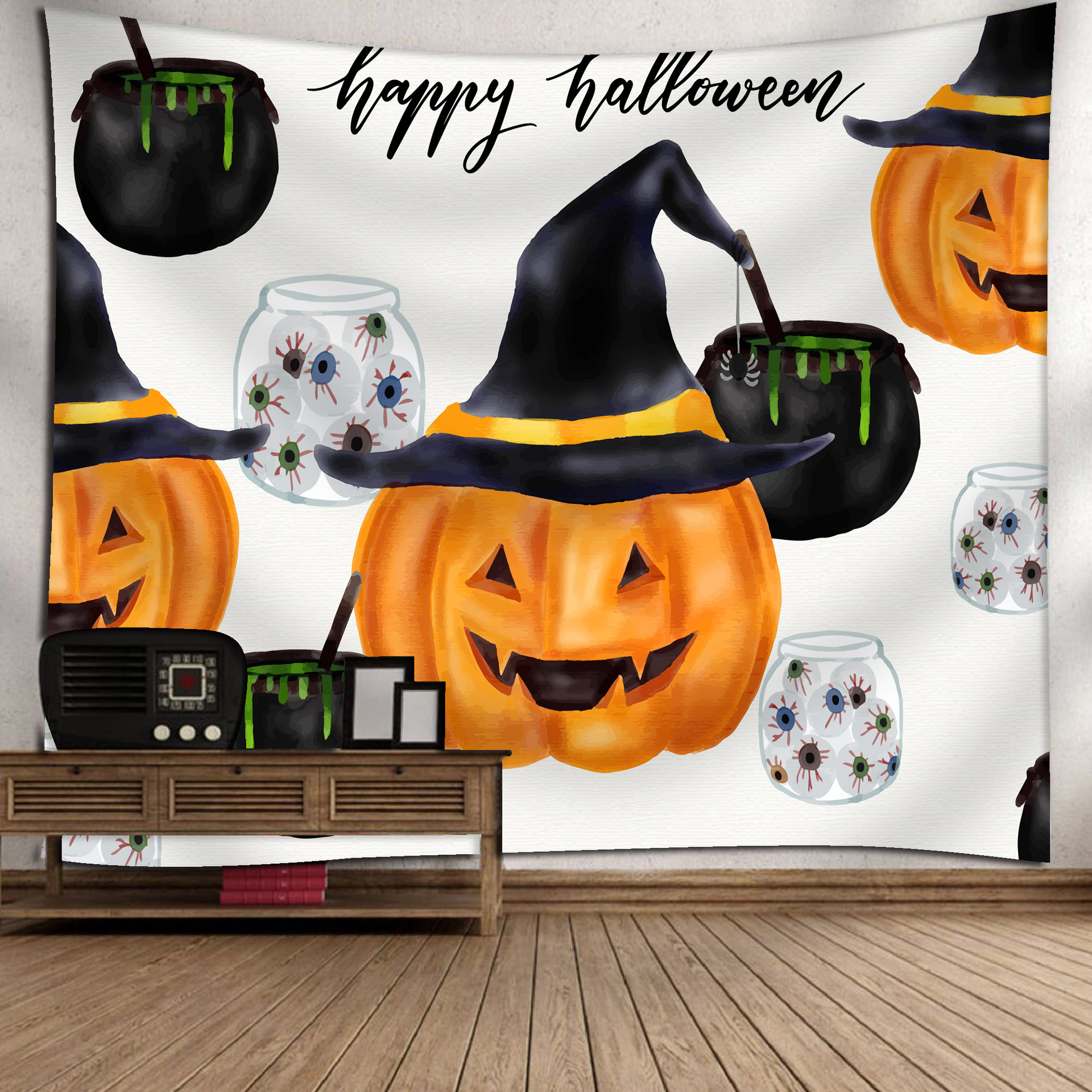 Fashion Halloween Hanging Home Tapestry Wall Decoration 7_150*130