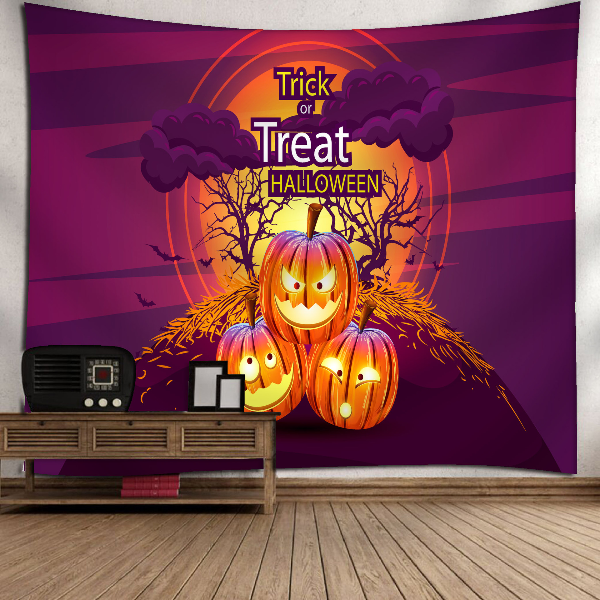Fashion Halloween Hanging Home Tapestry Wall Decoration 5_150*130