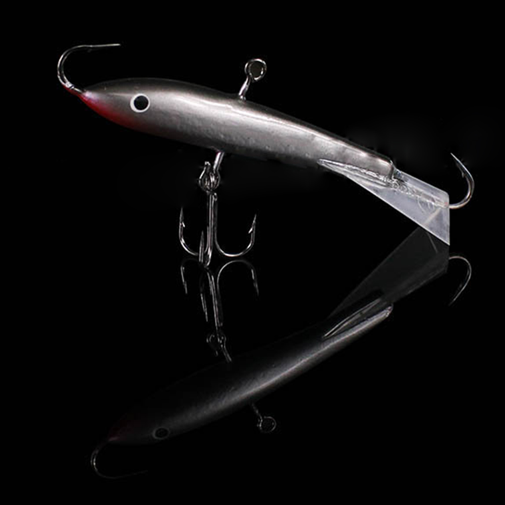 7.7cm 21.7g Ice Fishing Jigs Lifelike Artificial Sinking Bait with Strong Hooks Bass Pike Trout Fishing Lures