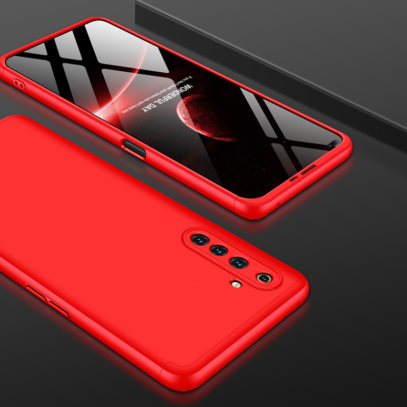 For OPPO Realme 6 Pro Cellphone Case PC Full Protection Anti-Scratch Mobile Phone Shell Cover red