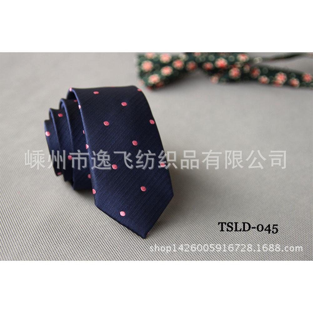 5cm Skinny Tie Classic Silk Solid Dot Narrow Slim Necktie Accessories Wedding Banquet Host Photo TSLD-045