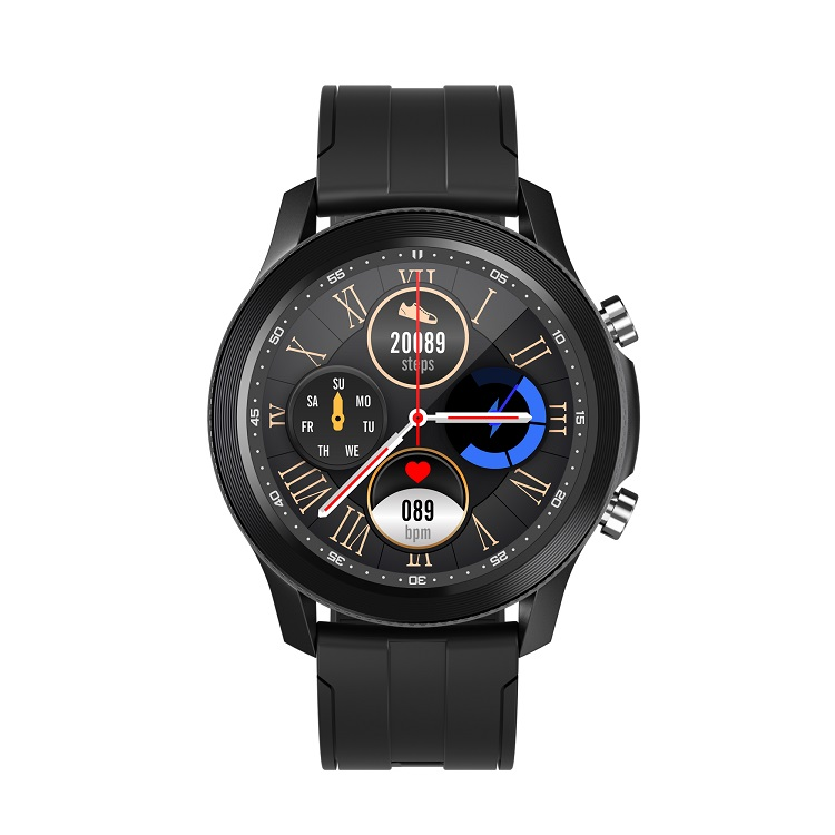 A10 Smart  Watch Fashion Music Player Bluetooth Call 260mah Large Battery Ip68 Smart Watch black
