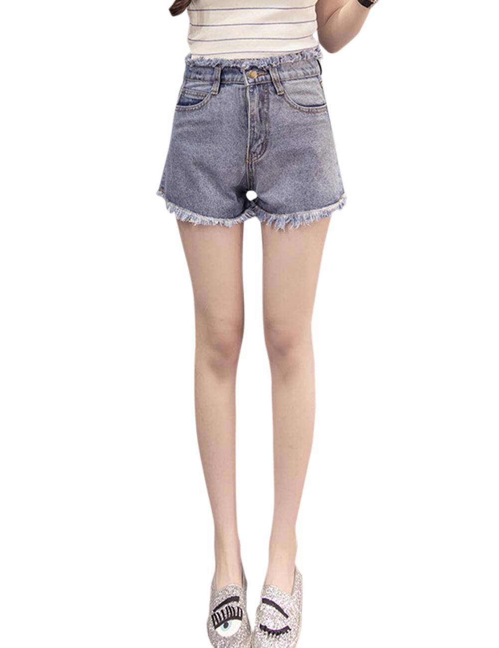 Women Stylish Denim Shorts High-waist Loose Short Pants Gift