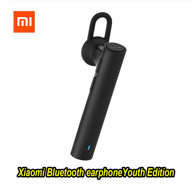 Original XIAOMI Bluetooth Youth Edition Earphone Headset Bluetooth 4.1 Earphone Build-in Mic Bluetooth Headset  black