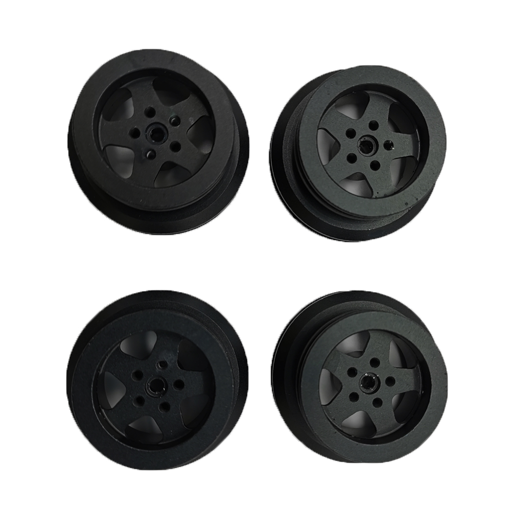 MN Model Metal Beadlock Wheels Rims for MN45 D90 91 96 99 99S 99A 1/12 Rc Car Model Spare Parts DIY  black_4PCS