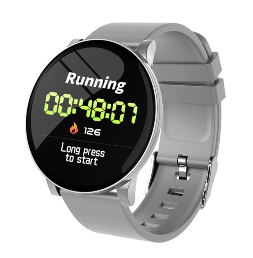 F1 Smart Watch Men Fitness Tracker Heart Rate Monitor Waterproof Smart Bracelet Weather Blood Pressure Watch gray