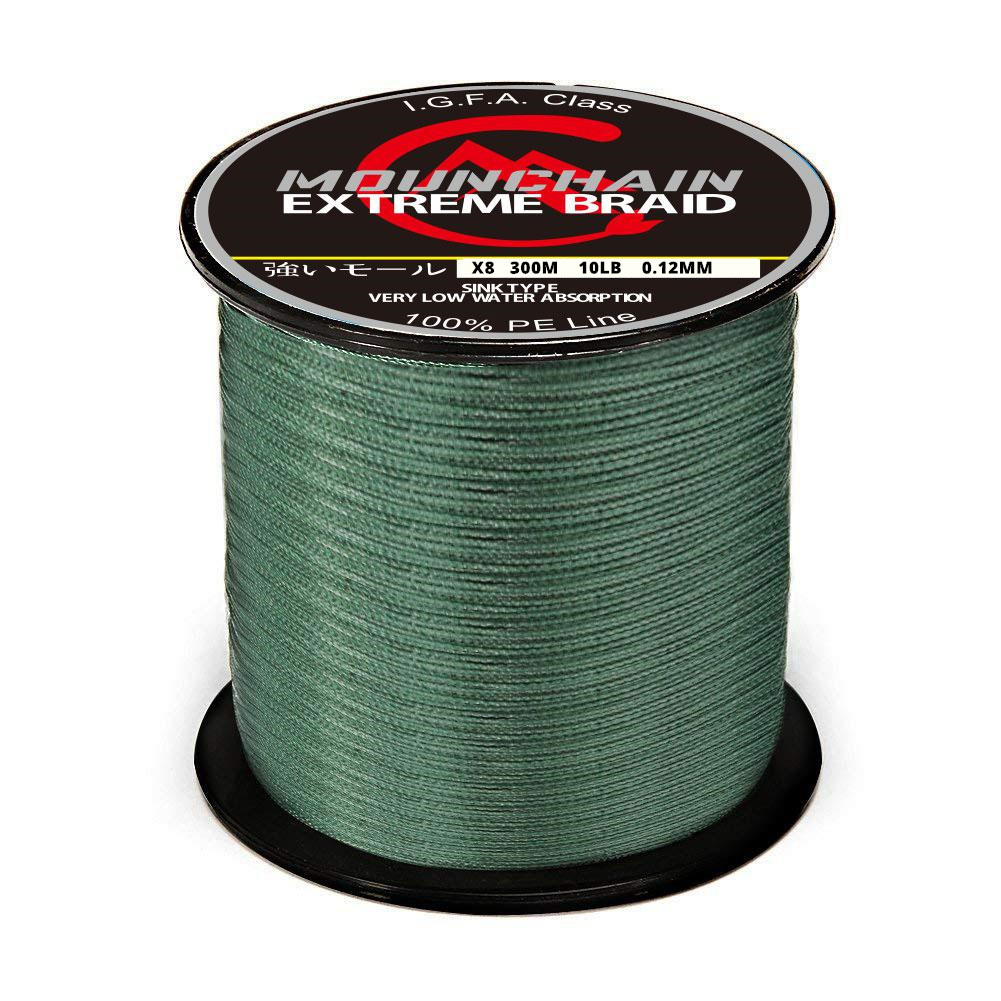 500 M Fishing  Line 8 Strands PE Braided  Strong Pull Main Line Fishing Line Fishing Tackle Dark green_500m_20LB/0.23mm