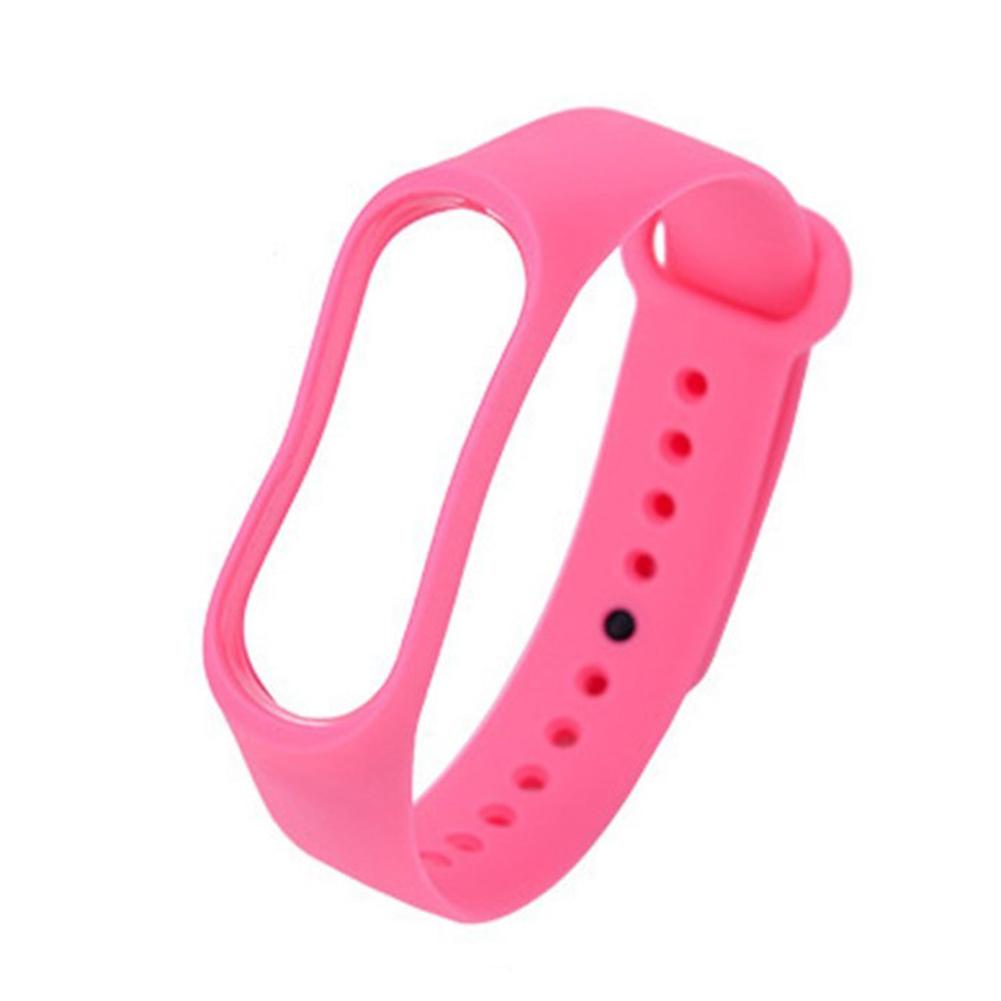 Smart Watch Wristband for Xiaomi 3 and 4 Bracelet Intellegent Sports Bracelet TPU Waterproof Wristband Pink