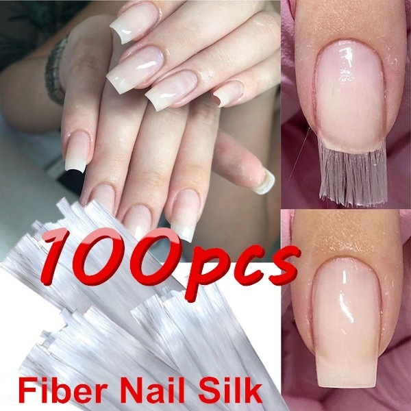 100pcs/set Professional Fiberglass Nail Extension Glass Fiber for Nail Silk Extension Nail Form Acrylic Tips Nail Salon 100PCS