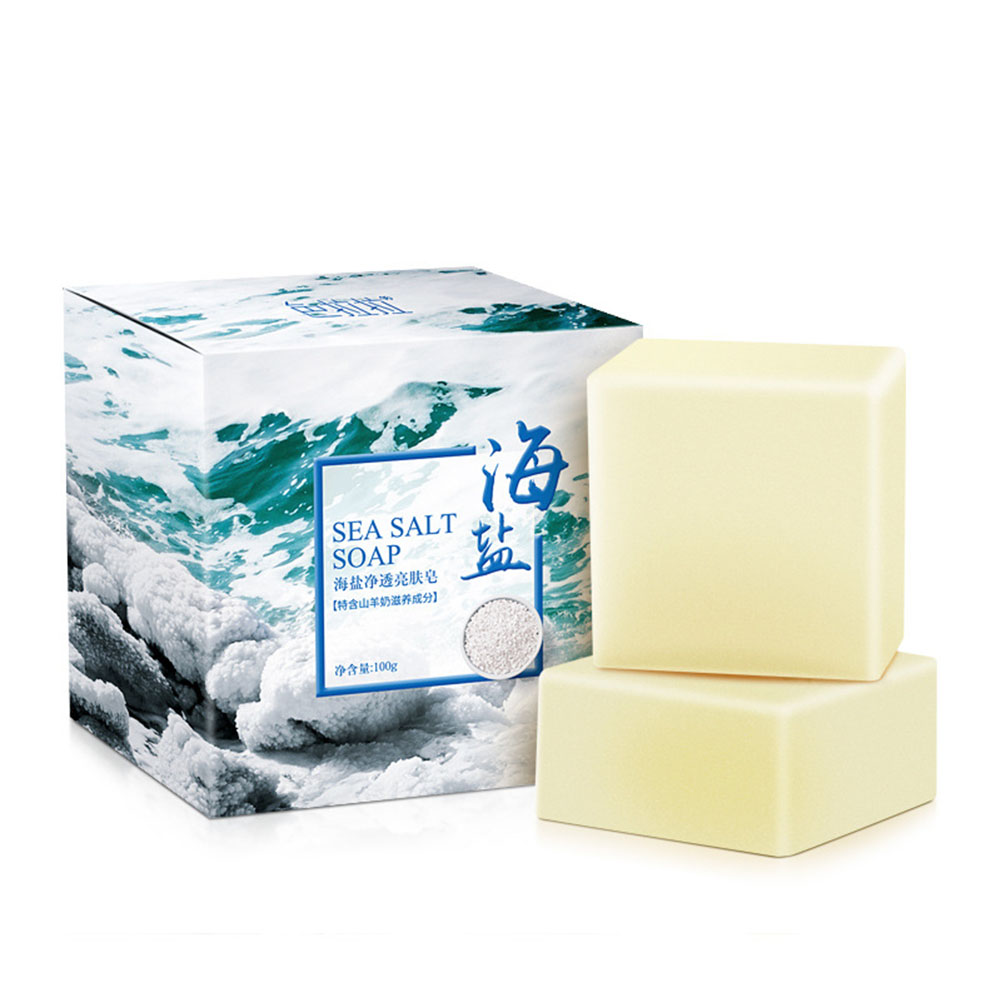 Sea Salt Soap 100g Cleansing Essential Oil Goat Milk Soap Handmade Sulfur Soap Sea Salt Goat Milk Soap 100g