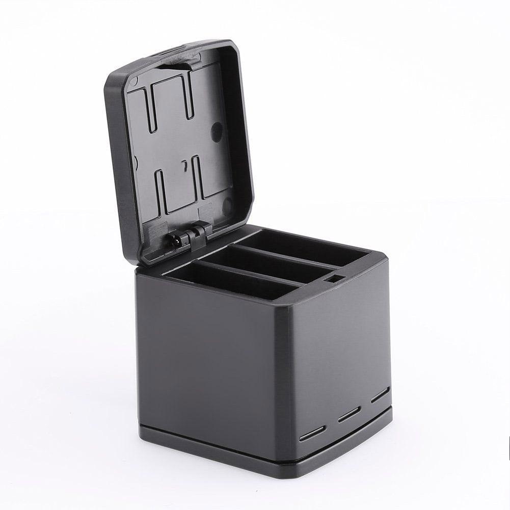TELESIN Multifunction 3 Slot Battery Charger for GoPro Hero 5/6/7 Camera Charging box