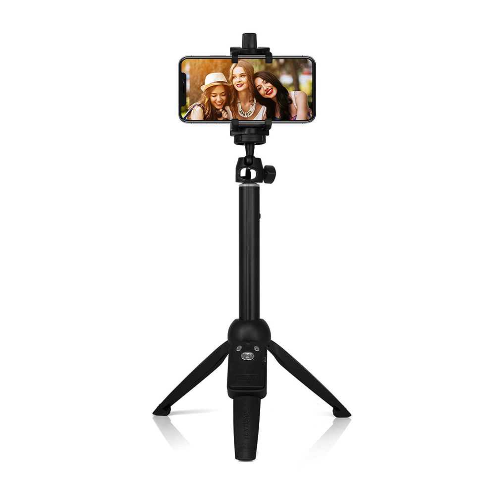 YunTeng YT-9928 Multifunction Selfie Stick Tripod with Bluetooth Remote Shutter  black