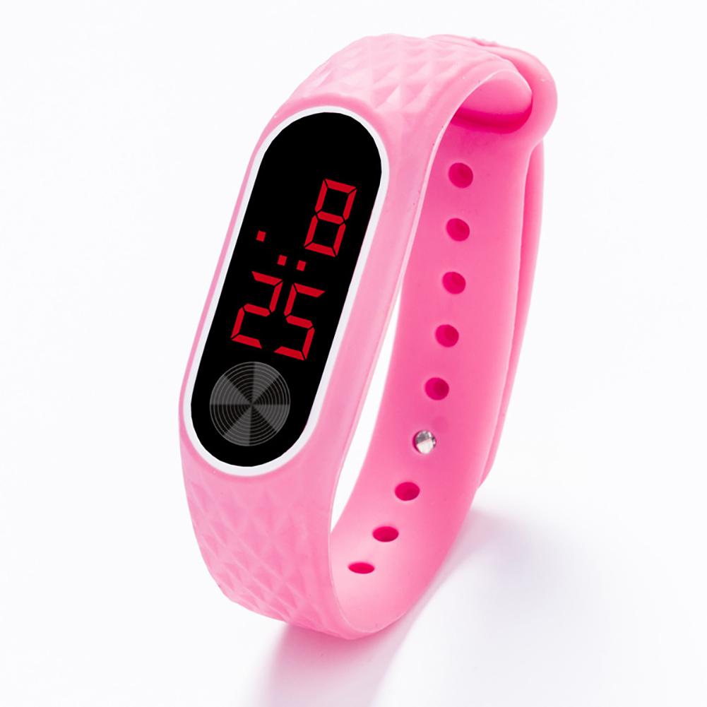 Kids Watch Bracelet LED Digital Sport Wrist Watch For Child Boys Girls New Electronic Clock  Pink
