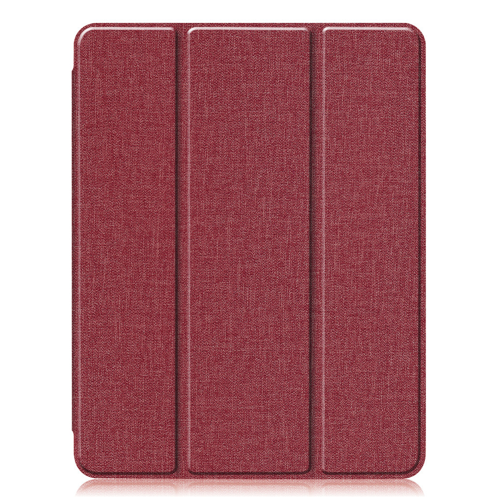 11 inch Foldable TPU Protective Shell Tablet Cover Case Shatter-resistant with Pen Slot for iPadPro red