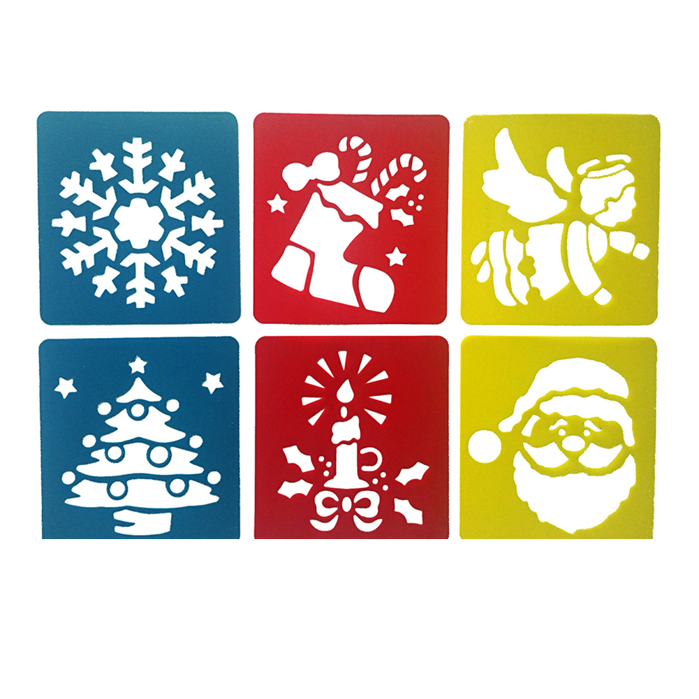6Pcs Drawing Board Copy Board Diy Christmas Color Painting Toy for Kids H-09
