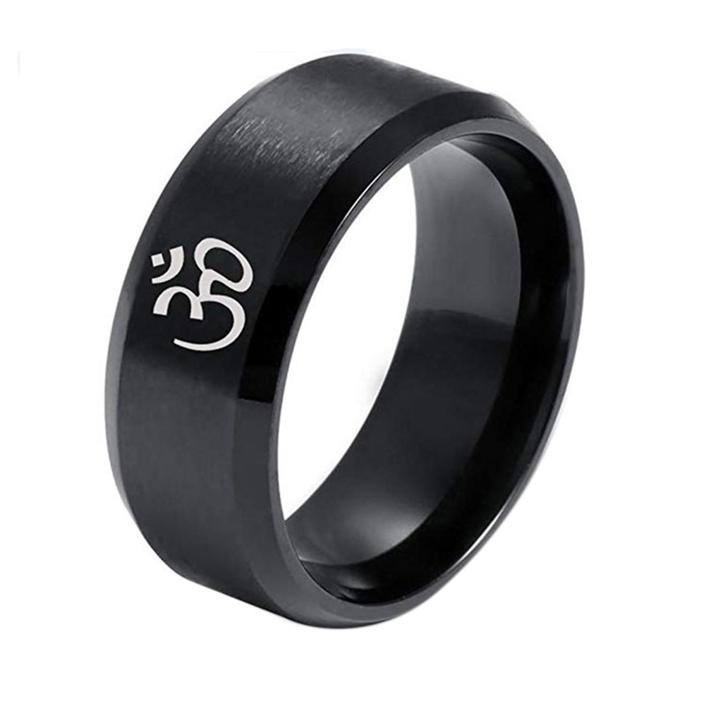 Unisex Stainless Steel Ring - Black No.9