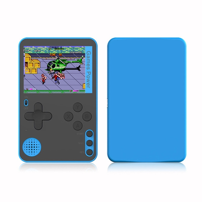K10 Handheld Video Games Console Built-in 500 Retro Classic Games Gaming Player Mini Pocket Gamepads blue
