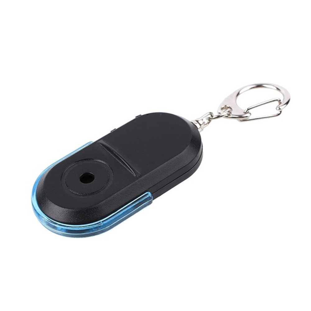 Wireless Anti-Lost Alarm Key Finder Locator Key Chain Whistle Sound LED Light 53*29*11mm blue
