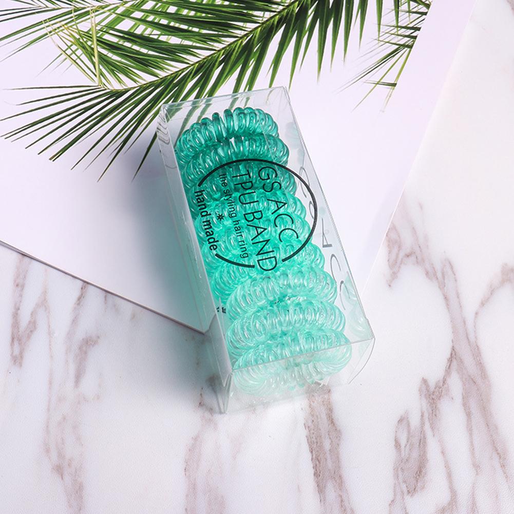 Hair Ties Coil Hair Ties, Phone Cord Hair Ties  Color Gradient  5#gradient green