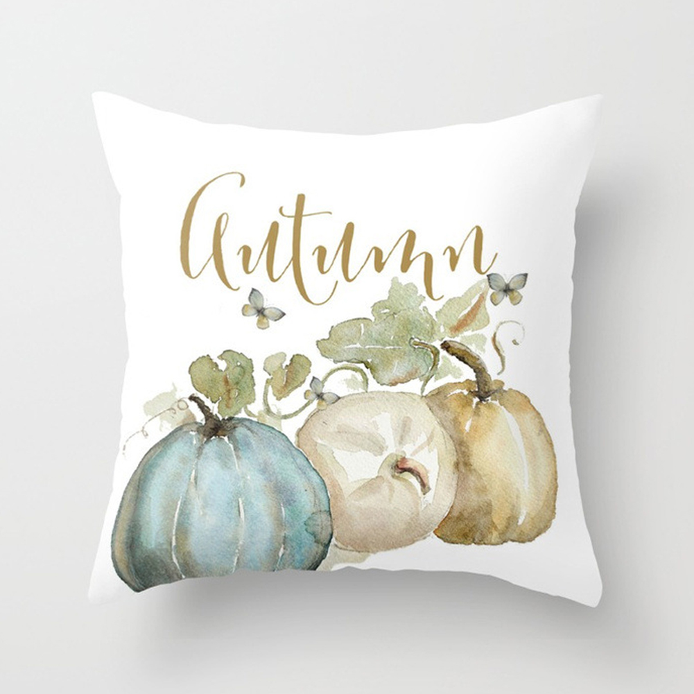 Thanksgiving Day Pumpkin Printed Throw Pillow Cover Pillowcases Decorative Sofa Cushion Cover DRD85-11_45*45cm
