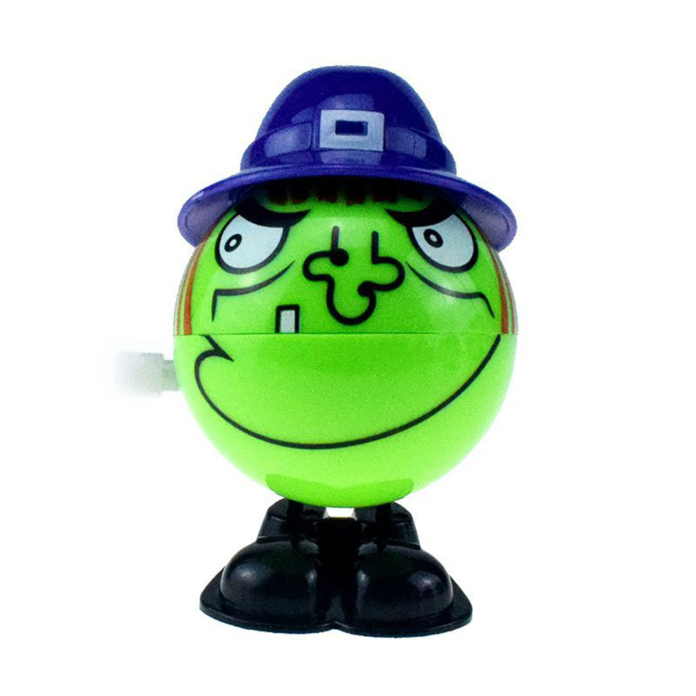 1Pcs Wind-Up Jumping Green Witch Halloween Doll Toy Wind-up witch
