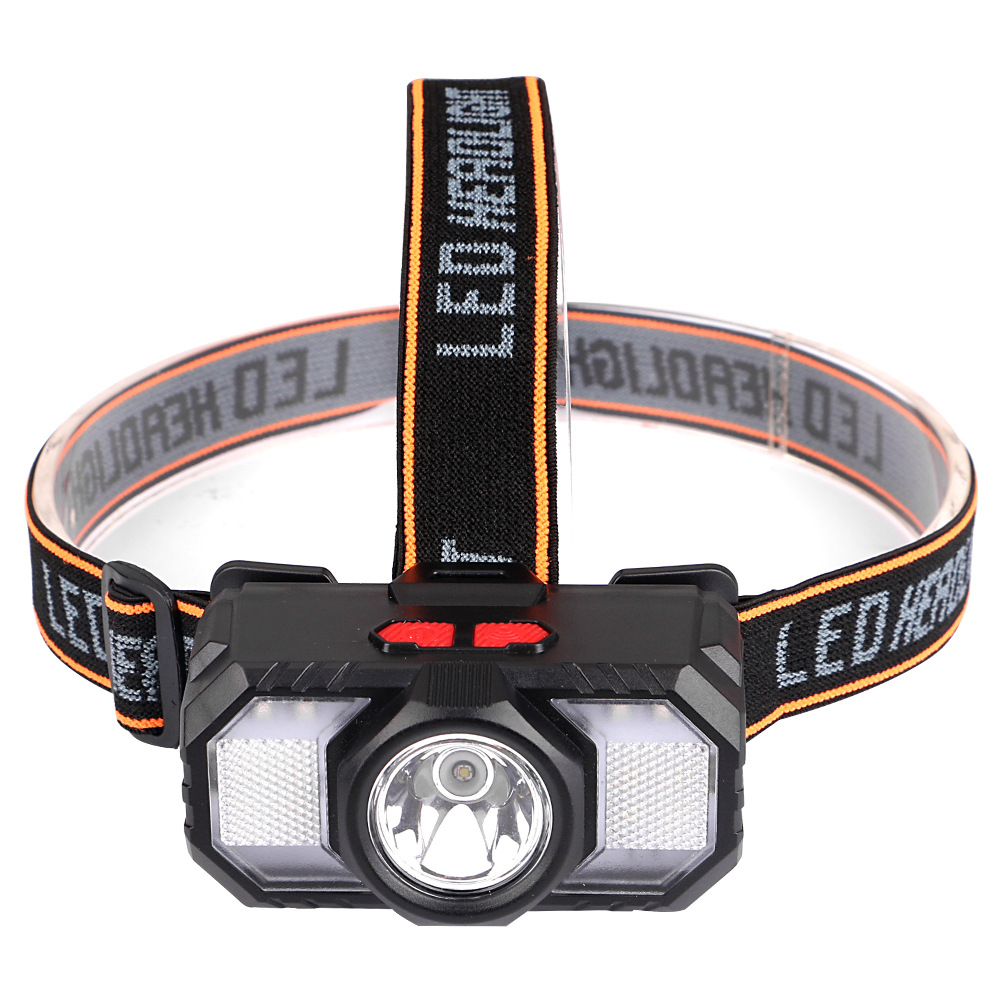 Usb Led Portable  Headlamp Waterproof Rechargeable Head Light For Outdoor Night Fishing Hiking as picture show