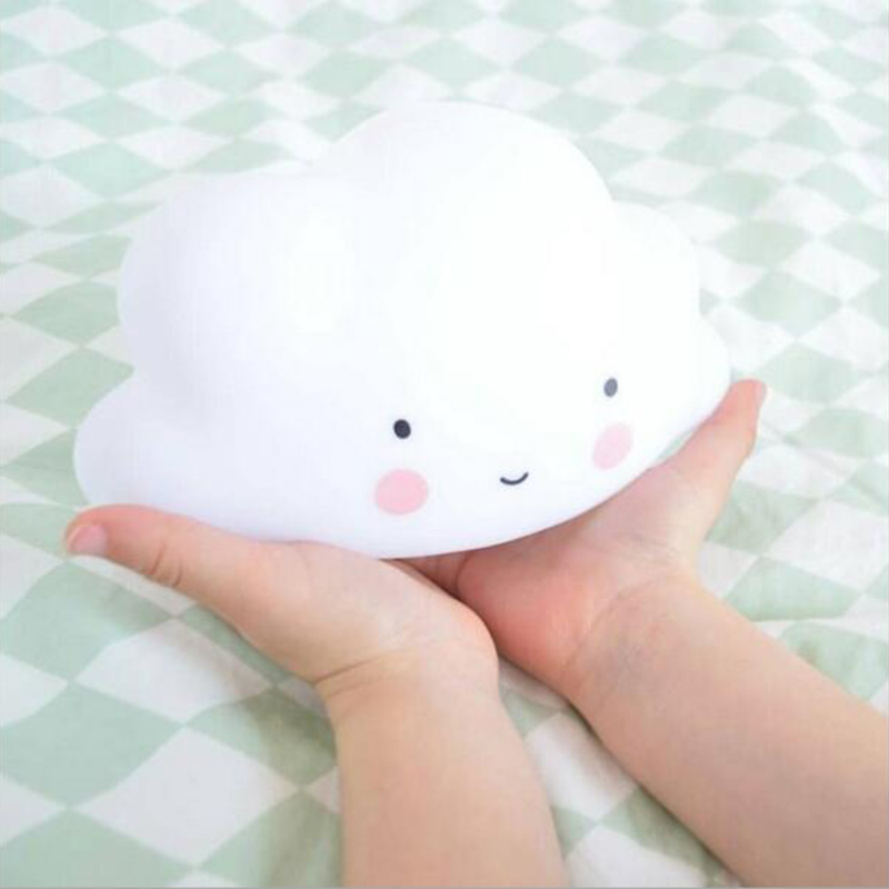 Novelty Cloud Smile Face Lamp Childrens Bedroom Nursery Mini Cloud Emitting Light