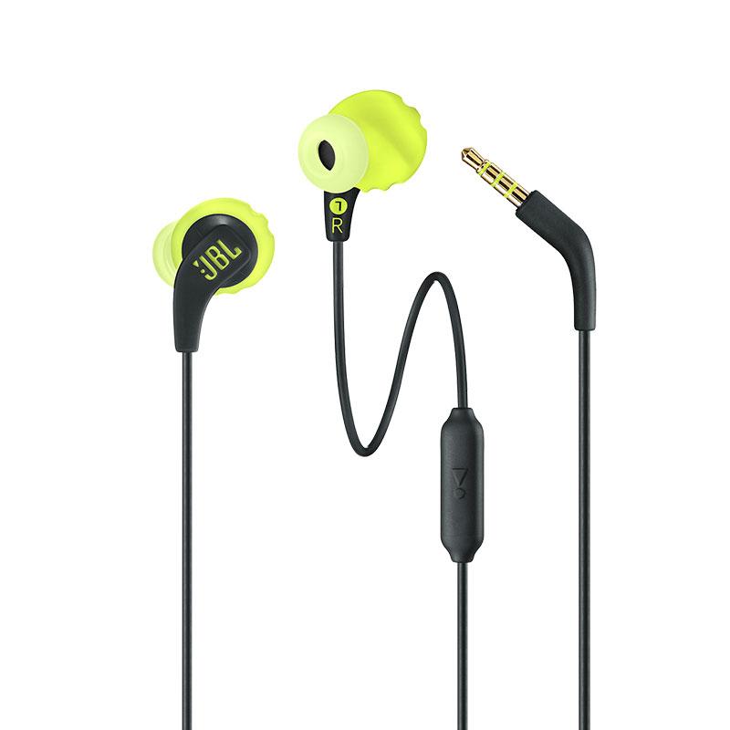 JBL Endurance Run Wired Earphones In-line Control In-Ear Sweatproof Sports Earphone with Mic Portable Magnetic Earplug yellow