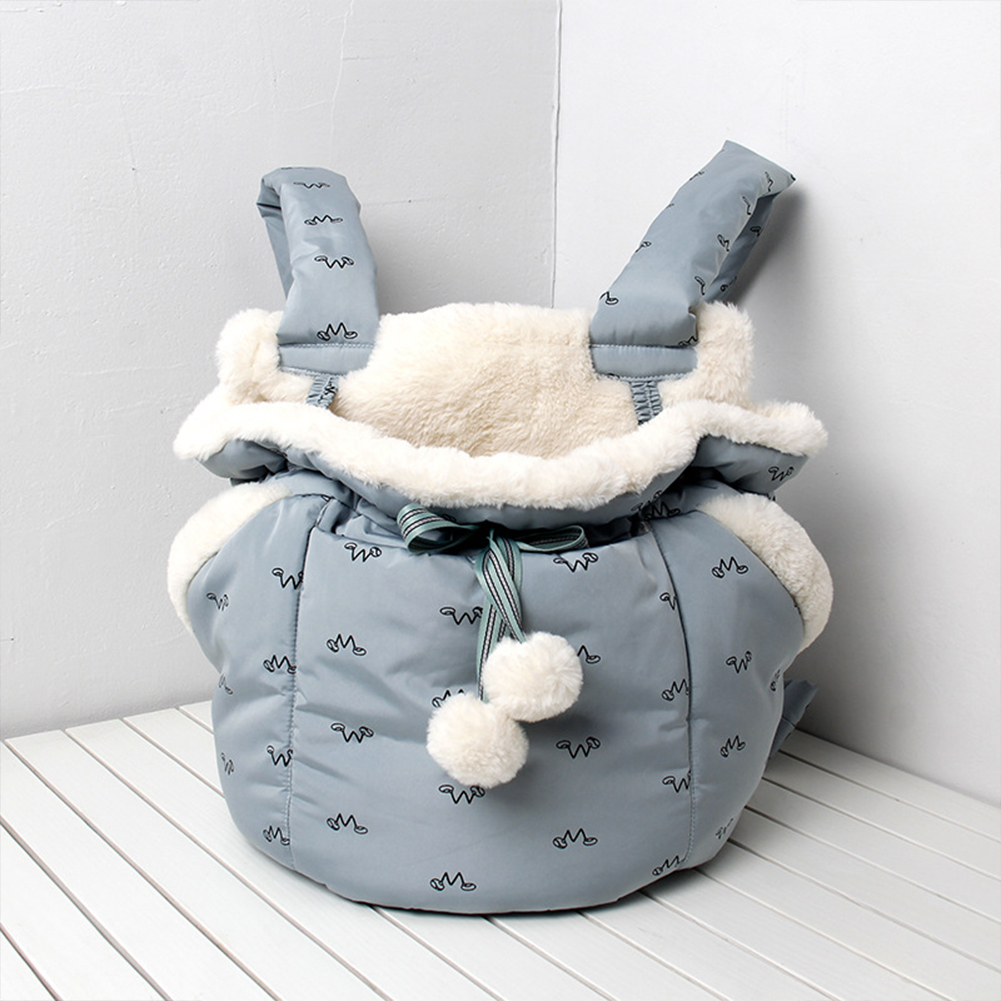 Front Hanging Chest Pack Semi-Closed Warm Sleeping Bag for Outdoor Pet Cat Blue