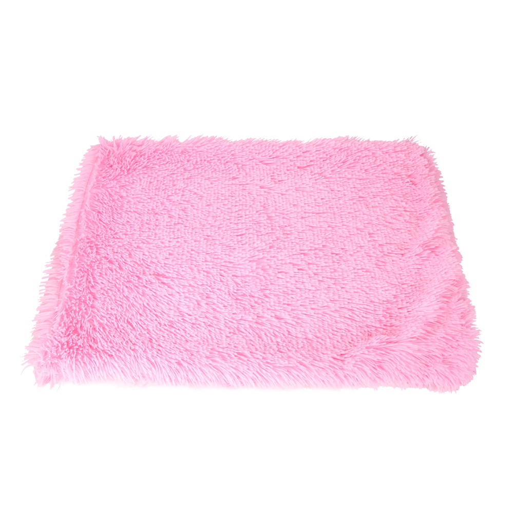 Pet Autumn Winter Dog Nest Warm Mattress Cat Sleeping Pad Long Blanket rose Red_S-51*43