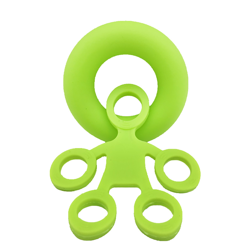 Finger Resistance Bands Set Wrist Training Stretcher Exercise Expander Fitness Equipment Small green strength (puller + grip ring)