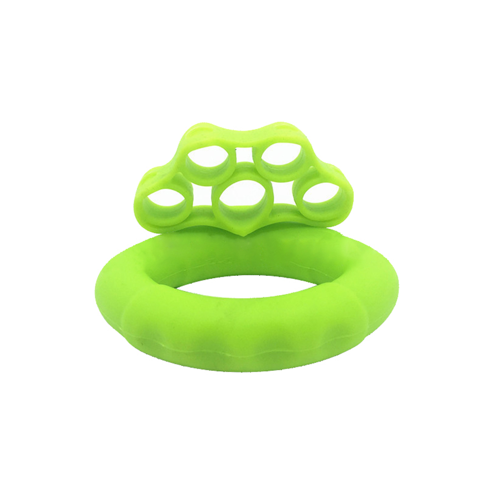 Finger Pull Ring+Resistance Bands For Training Rubber Loop Pull Ring Hand Grip Expander Wrist Training Carpal Fitness Grip 30LB + Tension 6.6LB Green