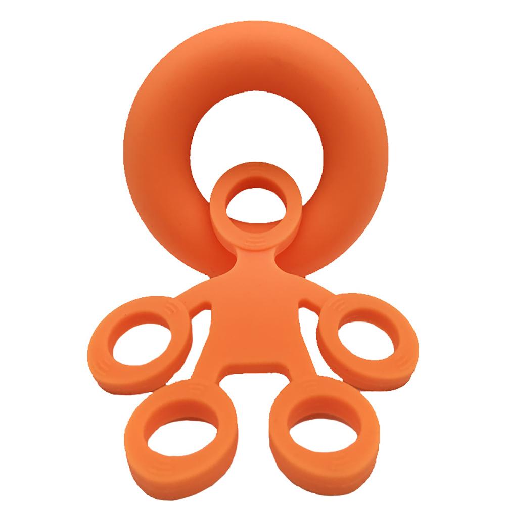 Finger Resistance Bands Set Wrist Training Stretcher Exercise Expander Fitness Equipment Orange strength (puller + grip ring)