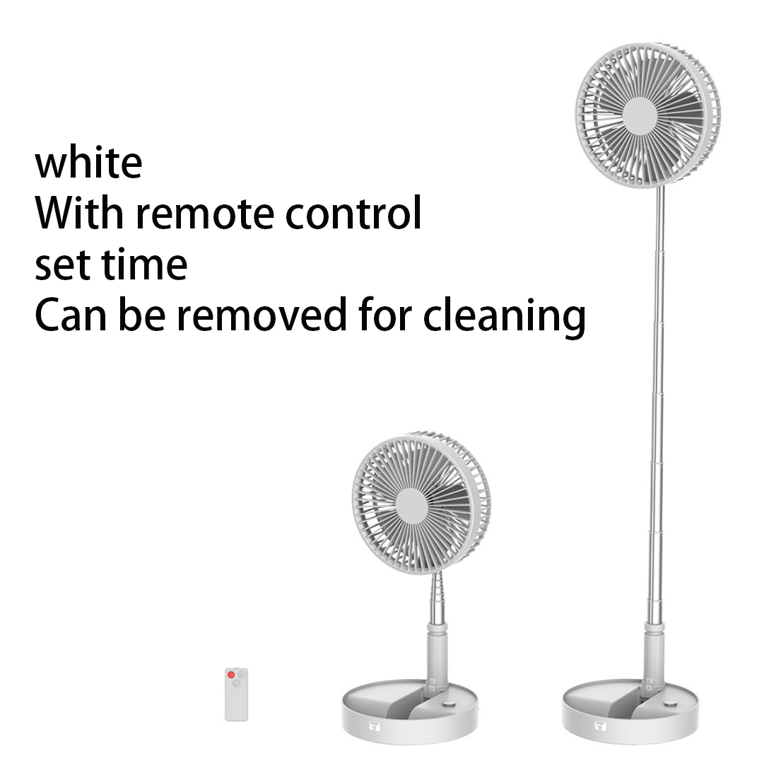 Portable Fan Telescopic Folding Fans Home Desktop Landing Silent Air Cooler Summer Desktop Floor Mute Fan white