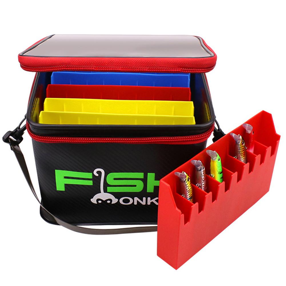Fishing Lure Storage  Case Multi-function Fish Bucket Bag With Detachable Waterproof Bag Bait storage box