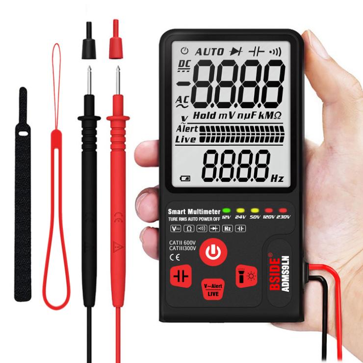 Adms9cln Digital  Multimeter 9999 Counts Auto Range Voltage Capacitance Diode Resistance Test ADMS9LN English