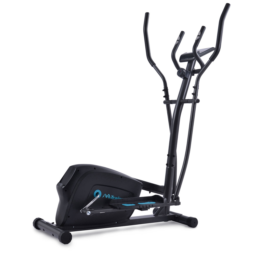 [US Direct] Elliptical  Training  Machine Vertical Exercise Tool With Eight-level Magnetic Resistor For Aerobic Exercise black