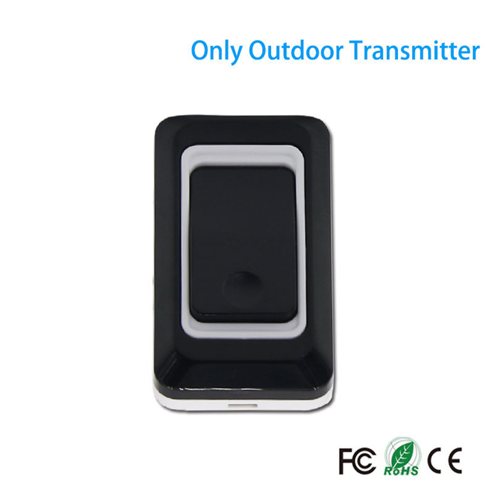 Home Wireless Long Distance DoorBell Waterproof Security Door Bell Transmitter Receiver US