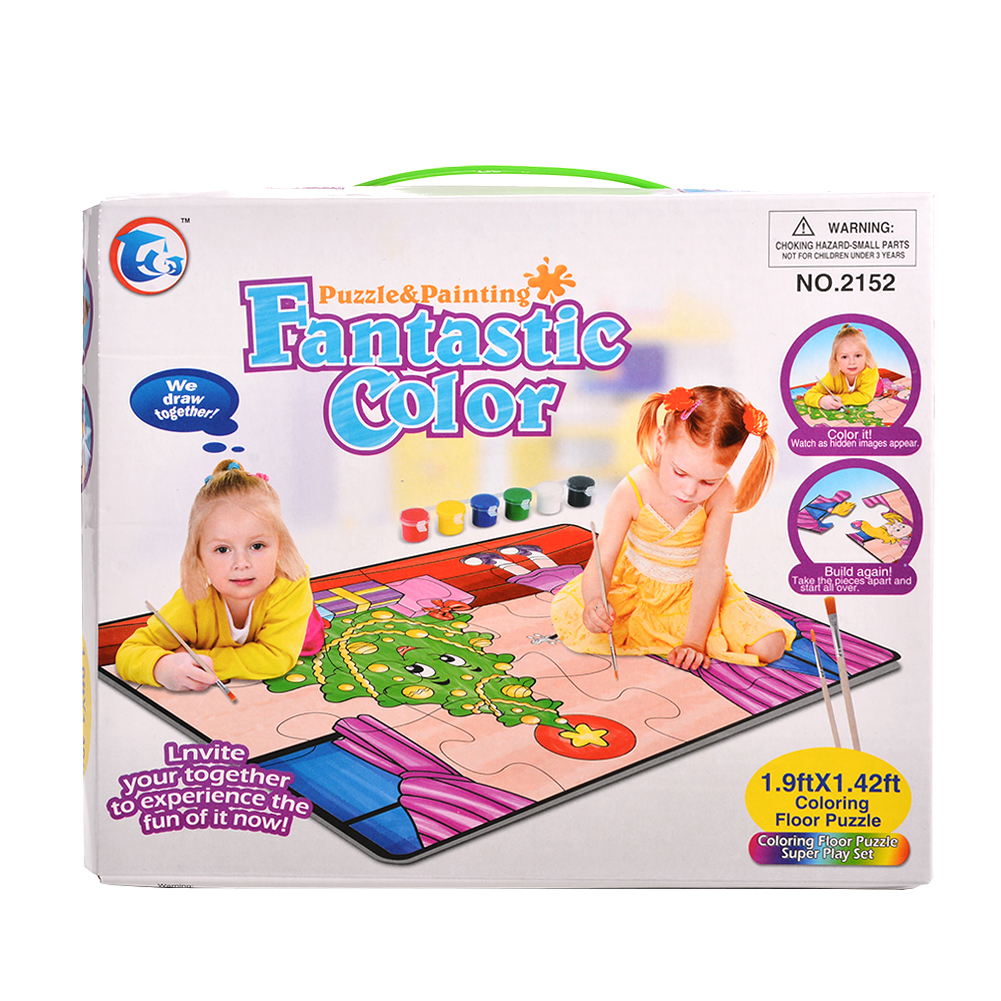 [US Direct] Christmas gift crayon doodle puzzle